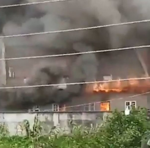 Lagos Governor Sanwo Olu Family House In Lagos Island On Fire