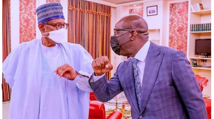 Buhari meets Obaseki in Aso Villa