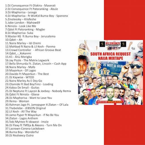 DJ Realsex - South African Request Naija Mix