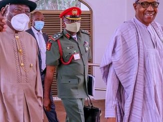 EndSARS: Buhari, Obasanjo, Jonathan, Security Chiefs, Others In Crucial Meeting
