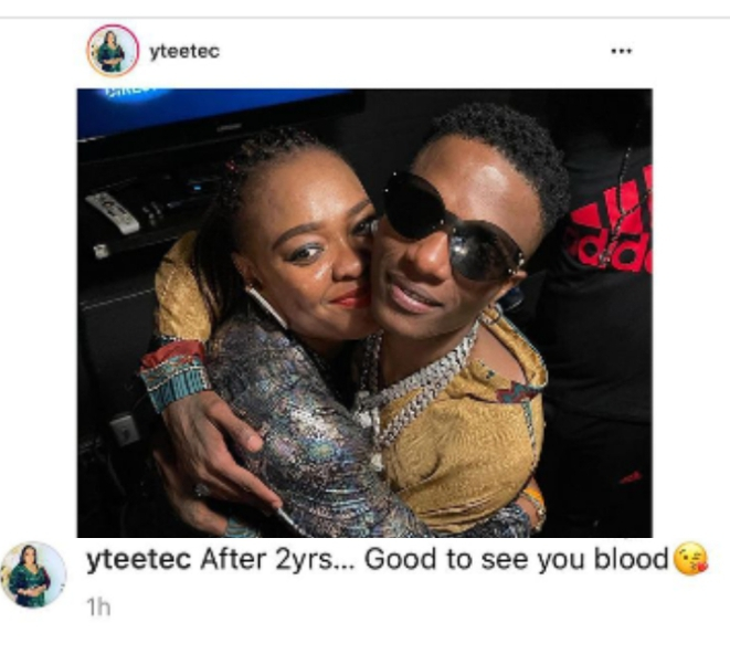 Wizkid reunites with his elder sister after 2 years (Photo)