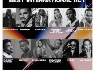 Wizkid, Davido, Burna boy & Others Nominated At 2020 MOBO Awards (See Full List)
