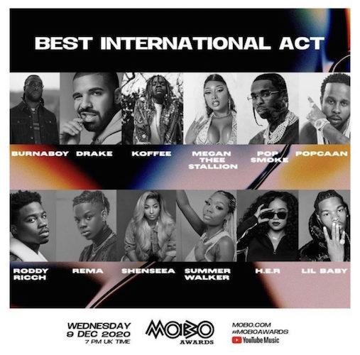 Wizkid, Davido & Others Nominated At 2020 MOBO Awards