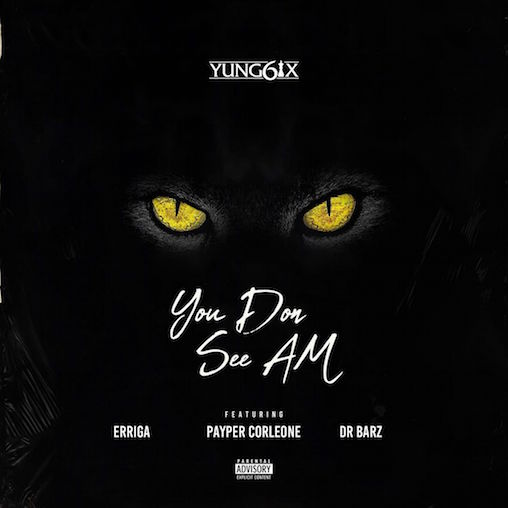 Nigerian hip-hop rapper,Yung6ix debuts with his new hip-hip tunes tagged You Don See Am.  Yung6ix collaborates with heavyweightSouth-South king, Erigga,Payper