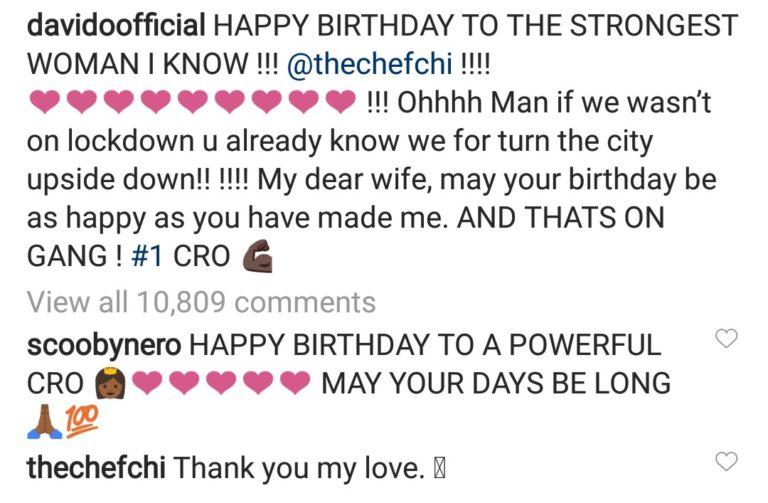 Davido Celebrates Chioma On Her Birthday